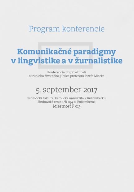 Minimalist conference print
